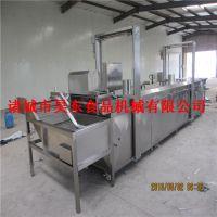 QQ豆干 油炸机 连续式QQ豆干油炸流水线 昊东机械