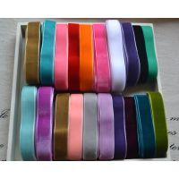厂家直销单双面弹力彩带丝带绒带织带天鹅绒植绒带1-5厘米宽DIY服装辅料