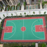 丙烯酸篮球场施工过程中注意事项 佛山硬地丙烯酸篮球场地面维护