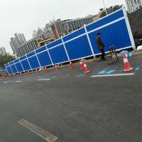 河南安阳现货供应市政彩钢板围挡、pvc道路施工围挡。工地隔离围挡