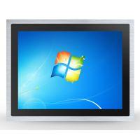 中冠智能19寸10MM纯平嵌入式显示器 工业电容触摸显示器 4:3正屏
