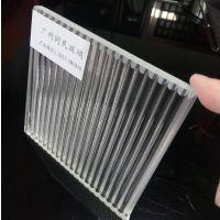 广州超白坑纹玻璃 条纹夹胶玻璃 隔断特色条纹玻璃