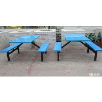 学生食堂餐桌 户外四人位连体桌椅 员工食堂桌椅长方形条凳桌