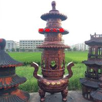 厂家直销铜铁三层宝鼎江西禅寺铸铜景观宝鼎到哪里购买