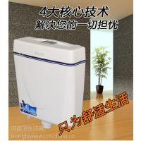 水箱配件卫生间厕所水箱挂墙式双按式厕所环保静音水箱节能冲水箱