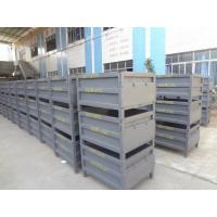 东莞帝腾是珠三角厂家长期供应钢制折叠周转箱/堆垛铁箱/物流周转箱