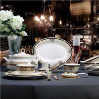 哑光简约小鸟图案美式西餐盘牛扒盘菜盘餐具装饰餐盘