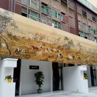 景德镇室内外墙薄板陶瓷壁画定制背景墙茶楼酒店外墙装饰画百骏图