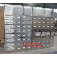 不锈钢带橱柜中药柜 不锈钢40抽装120味药斗柜批发
