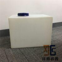 90L长方形塑料水箱 80升机床冷却塑料箱 80公斤储液方箱