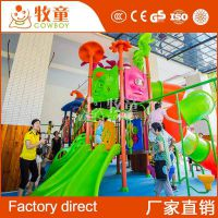 厂家直销幼儿园儿童玩具全塑料滑滑梯儿童室内大型组合滑梯定制