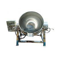 诸城盛华机械 不锈钢立式炊具 电加热搅拌夹层锅 可倾斜式导热油夹层锅