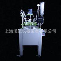 厂家直销上海泓冠单层玻璃反应釜F-100L