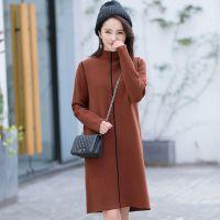 秋冬季新款女式针织羊毛打底衫时尚韩版气质欧美中长款连衣裙毛衣