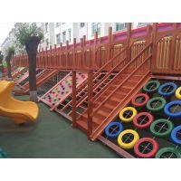幼儿园防腐积木、攀爬架、户外木地板
