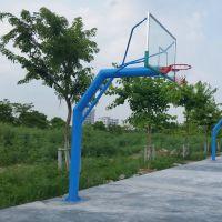 深圳小区钢化透明玻璃篮球板价格 柏克2mm厚钢板制作 学校篮球架安装