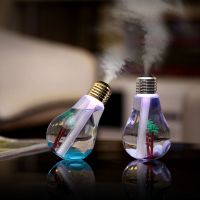 LED灯泡加湿器 USB迷你空气净化器 办公家居香薰机 外贸一件代发