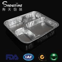 860ml大四格铝箔餐盒一次性打包外卖盒多格盒外卖饭寿天包装批发