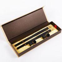 中国风礼品筷子 熊猫乌木筷礼盒装 筷子礼品黑檀筷子餐具套装
