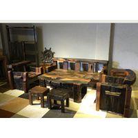 万豪老船木万字沙发组合全实木沙发客厅整装新中式禅意家具古典可定制