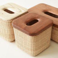 印尼进口藤编纸巾盒创意洗手间客厅厨房纸巾筒抽纸盒车用餐巾纸盒