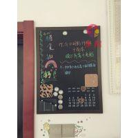 深圳双面磁性家用黑板O郴州用粉笔推拉黑板O黑板店铺告示