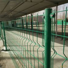 双边丝护栏网 桥梁围栏网 足球场护栏网