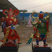 河南云峰佛像雕塑厂供应2.3米武财神关公 关圣帝君 玻璃钢彩绘