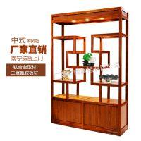 门厅现代中式玄关柜时尚酒柜隔断柜双面屏风柜博古架装饰柜展示柜