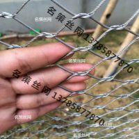 河北名策丝网厂家供应定制不锈钢绳网 鸟语林网 鸟笼舍网厂家