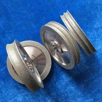 定做各种异形电镀金刚石/CBN砂轮片 U型弧电镀磨轮滚轮修整砂轮