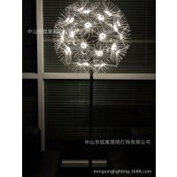 定制LED户外蒲公英LED光纤球落地草坪景观灯广场美陈公园亮化工程