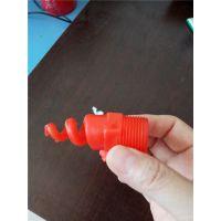 直销螺旋喷头 大流量除尘喷嘴 华强生产 型号全PP材质外螺纹连接