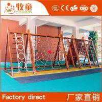 幼儿园大型户外攀爬架实木儿童体能训练攀爬网木质拓展器村定制