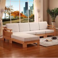 重庆新中式实木茶桌椅亚麻面料沙发垫抱枕坐垫靠包