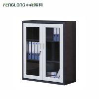 洛阳钢制小文件柜玻璃门书柜矮柜资料柜办公档案柜厂家直销