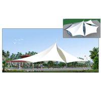 湖北膜结构车棚景观棚设计安装、PVDF建筑膜材供应