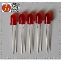 5mm长脚红发红圆头高亮LED发光二极管
