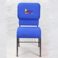 厂家直销外贸教堂椅子朝拜椅礼堂椅酒店宴会椅子:北欧金属餐椅