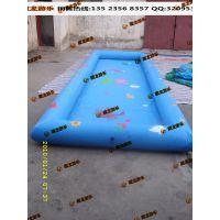 厂家定做充气水池充气游泳池 钓鱼池水池玩具组合 手摇船滚筒现货