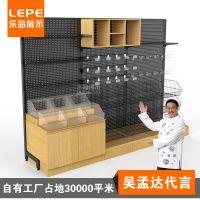 乐品 超市粮油展示柜 木质地柜 货架配件 米袋展示柜