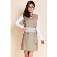 妍思美雅厂家直销欧式中式韩式美容技师工作服养生服装制服连衣裙外套