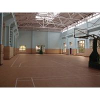"""室内篮球场PVC静音地板环保材料,江苏""""浩康""""牌HK-3559型木纹4.5mm厚"""