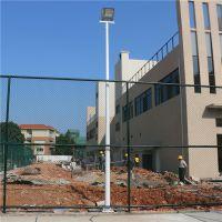 南宁市学校篮球场高杆灯灯杆材质 球场灯杆安装间距 室外篮球场灯光布置图