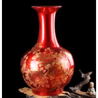 景德镇花瓶批发 玄关柜装饰摆件花瓶图片 中式装饰落地大花瓶厂家