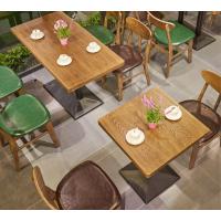倍斯特创意个性主题餐厅实木小圆桌简约现代休闲奶茶咖啡面包屋户外餐桌厂家定制