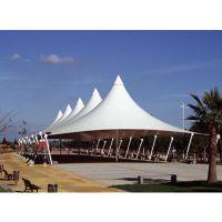 沙滩海边景观遮阳膜结构雨棚 设计安装旅游景区张拉膜
