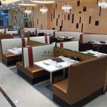 阳江港式餐馆家具订制,港式餐厅沙发桌椅组合