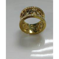 润培 铜电镀黄金戒指女款 饰品生产制造商 品质价格优