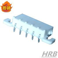 HRB品牌6.35mm连接器 6.35间距线对板连接器 牛角弯针GWT材质